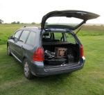 Launcher loaded in car